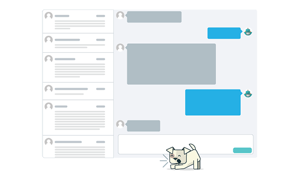 Store all interactions and messages from users in a intelligent inbox for customer success.