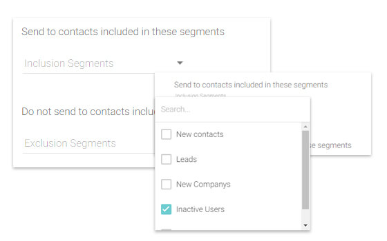 Create hyper-segmented groups of leads and users for targeted communication.