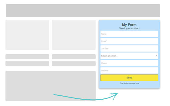 Just add a little snippet in your website or blog to enable webforms and start generating quality leads.
