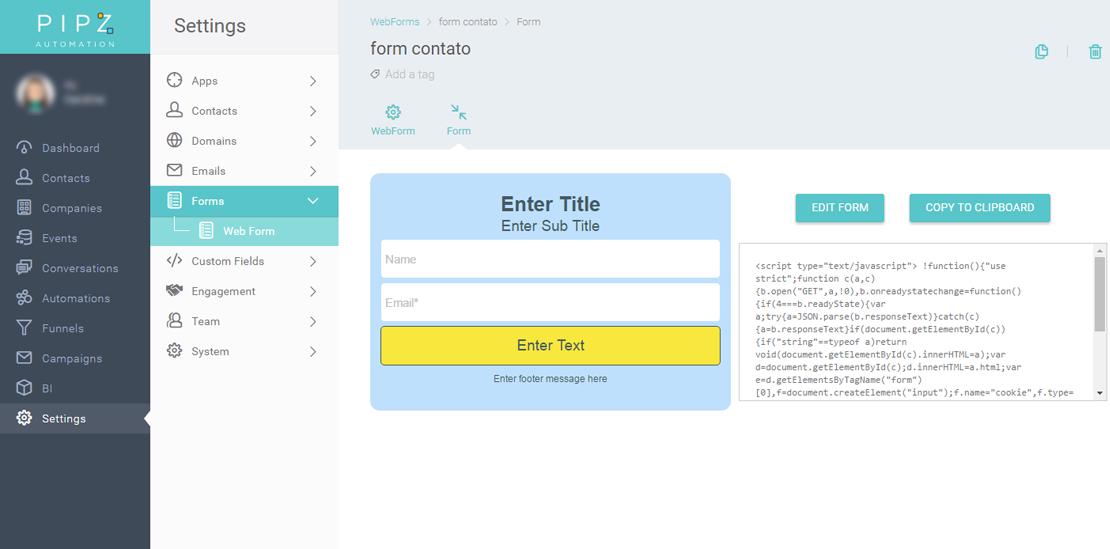 Como criar um formulário